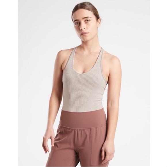 NWT Athleta Recharge Bodysuit // Grey Heather